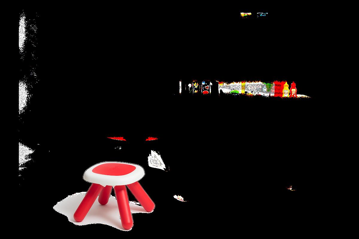 Kuchyňka rostoucí s tekoucí vodou a mikrovlnkou Tefal Evolutive Gourment Smoby červená s magickým bubláním, mikrovlnkou, židlí a 43 doplňků